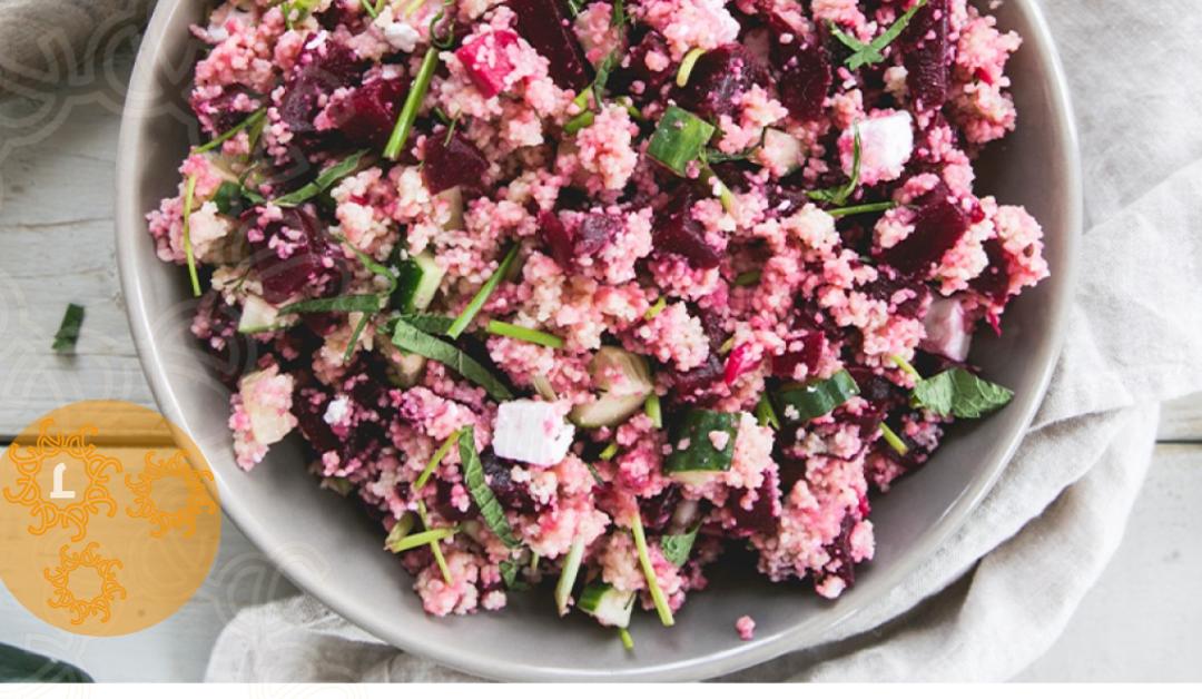 Couscous salade met rode biet