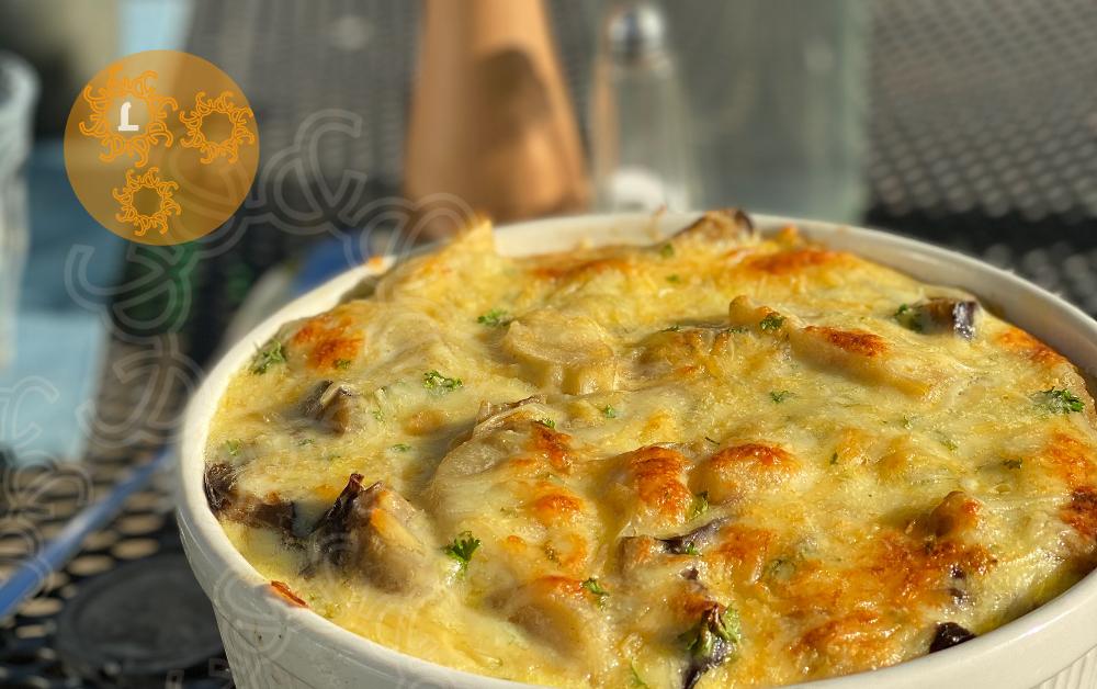 Pastinaak met Aubergine uit de oven