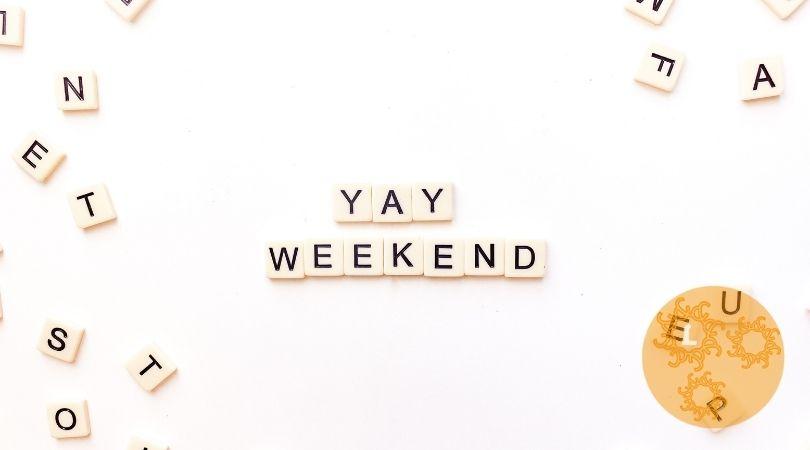 Fijn weekend: lekker uitrusten en ontspannen!