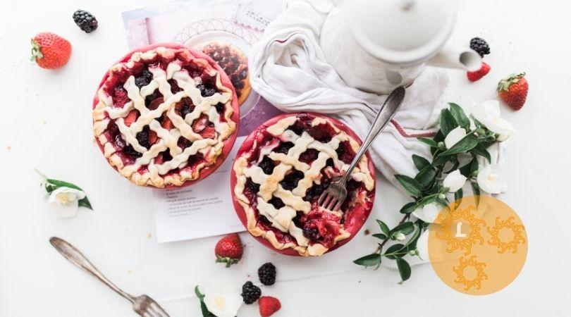 Recept: Aardbeien-rabarbertaart